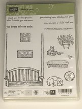 Stampin Up Sitting Here Photopolymer Stamp Set 14 Cat Dog Front Porch Sw... - $27.99