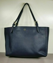 Tory Burch York Buckle Tote, Navy Saffiano Leather - $142.79