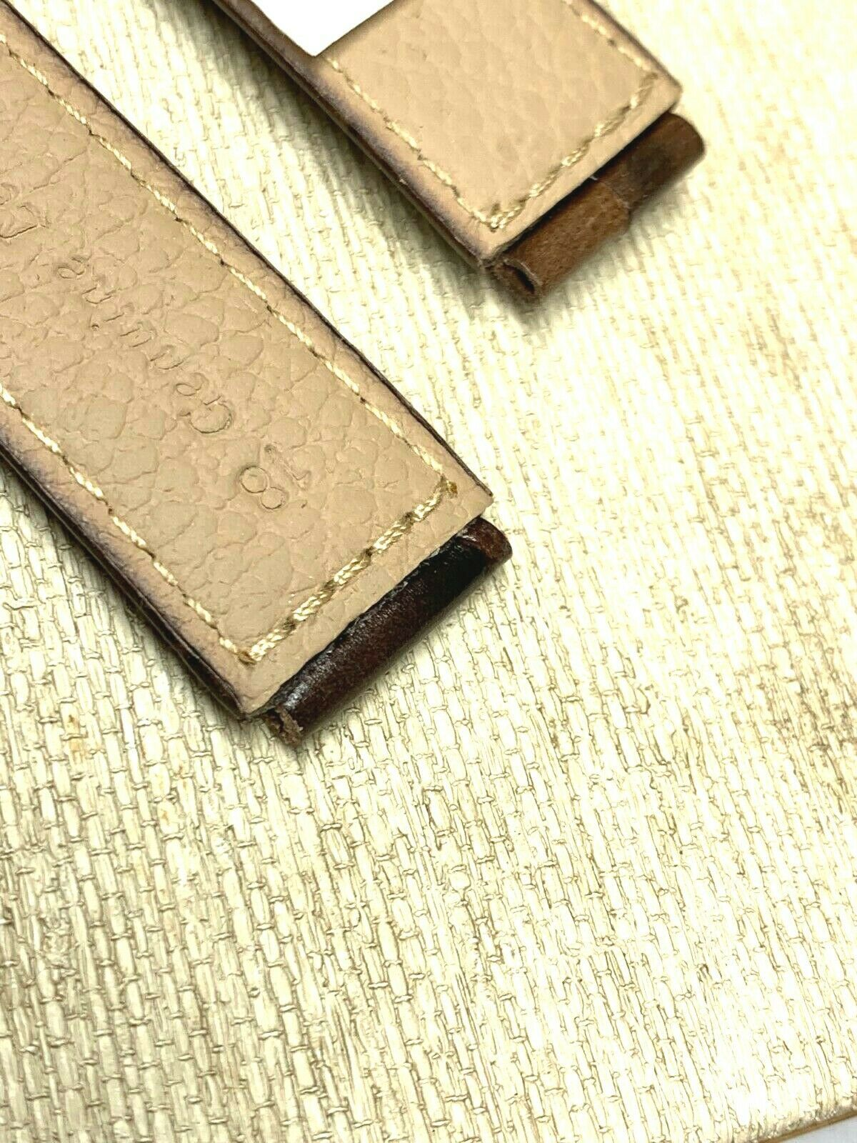 Genuine leather watch band 18mm special cut 22mm Vintage alligator grain image 2