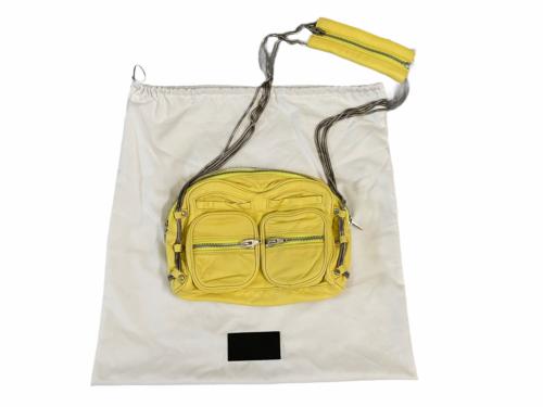 ALEXANDER WANG BRENDA Yellow Leather Crossbody Bag Purse Silver Hardware Dustbag