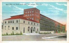 Main Office Bemis Cotton Mill Jackson Tennessee 1933 postcard - $6.44
