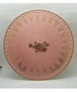 """EUC Vintage 1950s H AYNSLEY Stoke on Trent Pink Gold Red Rose 11.5"""" Cake... - $148.17"""
