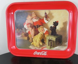 1986 coca cola vintage santa Tray Great For the Christmas Holidays - $29.91
