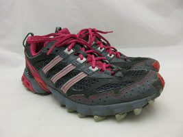 Adidas Kanadia TR Trail Running Shoes Women's Size 7 Gray and Pink - $32.68