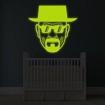 "( 71"" x 71"" ) Glowing Vinyl Wall Decal Breaking Bad Heisenberg with Sunglasses / - $282.55"