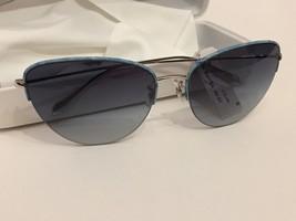 Oliver Peoples Metal Frame sunglasses 57 Light Blue  Gray, New - $89.09