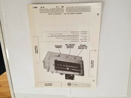 Vintage Photofact Folder Parts Manual - b1 - Browning Model RV31 - $6.92