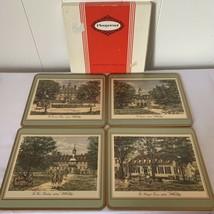 Vintage WILLIAMSBURG VIRGINIA PIMPERNEL Traditional Place Mats Set of Four - $34.62
