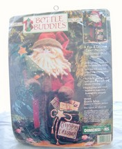 1996 Dimensions Bottle Buddies Kit Santa man Craft kitsch no sewing New Vtg - $14.97