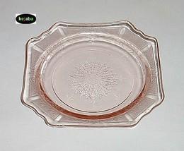 Princess Pink Plate 5 1/2 in. Sherbet / Saucer Hocking - $5.95