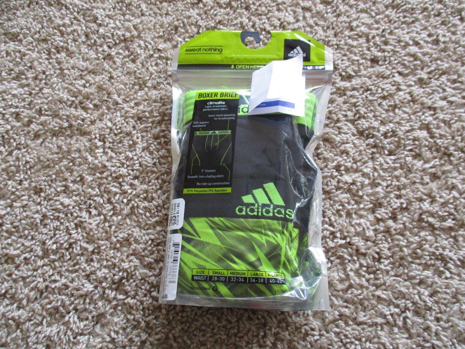 BNIP Adidas Climalite 2pk men's performance boxer briefs, Size M(32-34), $26