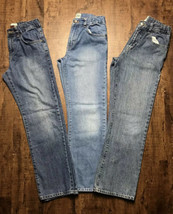 3PC Boys/Youth  Jeans Lot Size 12 Straight/BootCut Children's PLACE Deni... - $9.48