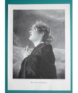 YOUNG MAIDEN Lovely Girl Salvation Prayer - VICTORIAN Era Engraving Print - $19.80