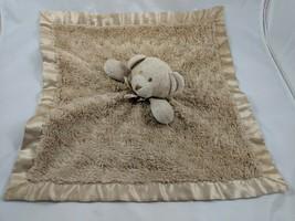 Blankets & Beyond Brown Bear Lovey Security Blanket Plush Stuffed Animal... - $19.95