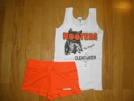 NEW SEXY HOOTERS GIRLS TANK/SHORTS & PANTYHOSE HALLOWEEN COSTUME XS SM M... - $55.00