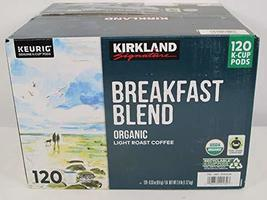 Kirkland Signature Organic Breakfast Blend Light-Roast Coffee, 120 K-Cup... - $56.78