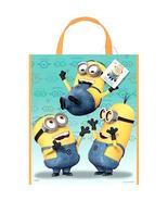 "So Cute! Despicable Me Minions Large Plastic Favor/Tote Bag 13"" x 11"" NEW! - $5.25"