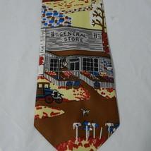 Vintage Sears Snapper Clip-on Tie Necktie Mens Multi-color General Store Novelty image 2