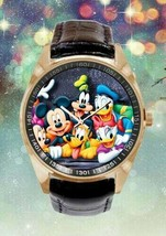 Disney Cartoon Quartz Mickey Mouse Donald & Daisy Duck and Friends Wristwatch - $30.00