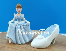 Disney Cinderella & Her Slipper Salt & Pepper Shaker Porcelain - $20.80