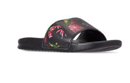 NIKE BENASSI JDI SLIDES Men Floral Black Sandals 631261-023  - $27.99