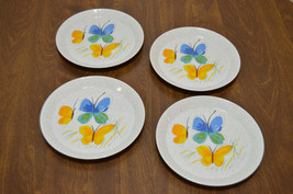 Set of 4 Vera for Mikasa Flights of Fancy Salad Plates Japan FA 302 Butterflies - $79.96