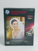 New HP Premium Plus Photo Paper 80 lbs Glossy 5 x 7 60 Sheets CR669A SEALED - $18.62