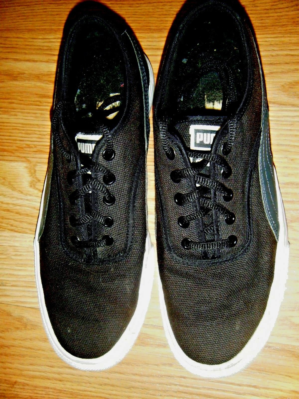 f40b0719d56 Puma Black Canvas Low Sneaker Shoes Size 7 and 50 similar items