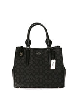 Coach Womens Crossbody Carryall Signature Tote Black Silver 33524-SVDK6 - $279.00