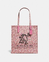 NWT Coach x Keith Haring Dancing Dog Shoulder Bag Hand Bag Tote 28653 Pink - £105.75 GBP