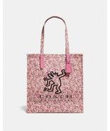 NWT Coach x Keith Haring Dancing Dog Shoulder Bag Hand Bag Tote 28653 Pink - $135.00
