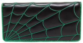 SOURPUSS Spiderweb Wallet Black/Green Spooky St... - $27.71