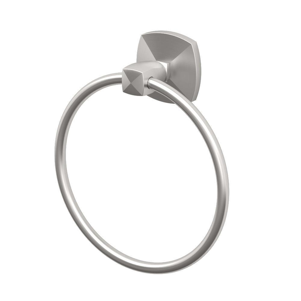 "Gatco 4152 Jewel 6 1/2"" Towel Ring in Satin Nickel"