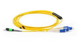 RiteAV 8 Strand, OS2 - 9/125um Singlemode , MPO F- LC SX Fiber Optic Har... - $69.64