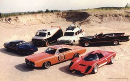 ICONIC CARS POSTER General lee, batman, the A team POSTER 24 x 36 inch - $18.99