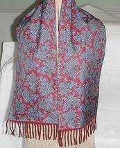 VINTAGE SAMMY SMART 2 SIDED SCARF RED PAISLEY & RED WARM SOFT MOD SCOOTE... - $19.68