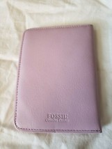 FOSSIL GIFT PASSPORT WALLET CARD HOLDER LEATHER PINK - $21.51