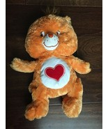 Care Bear Tender Heart Stuffed Plush Toy Bean Bag Fluffy Soft  2006 Oran... - $10.00