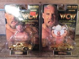 WCW Racing Champions GOLDBERG 24k Championship Edition Car 1/64 NEW (Lot... - $14.84