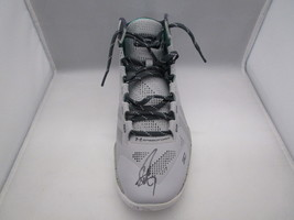STEPHEN CURRY / AUTOGRAPHED UNDER ARMOUR PLAYER MODEL GREY SNEAKER / JSA COA image 1