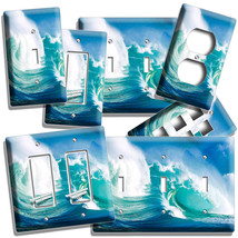 Big Surfing Turquoise Oc EAN Sea Wave Light Switch Wall Plates Outlet Room Decor - $10.99+