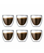 Pavina Double Wall Clear Espresso Shot Glass Extra Small 2.5 Ounce 6-Pack - $124.49