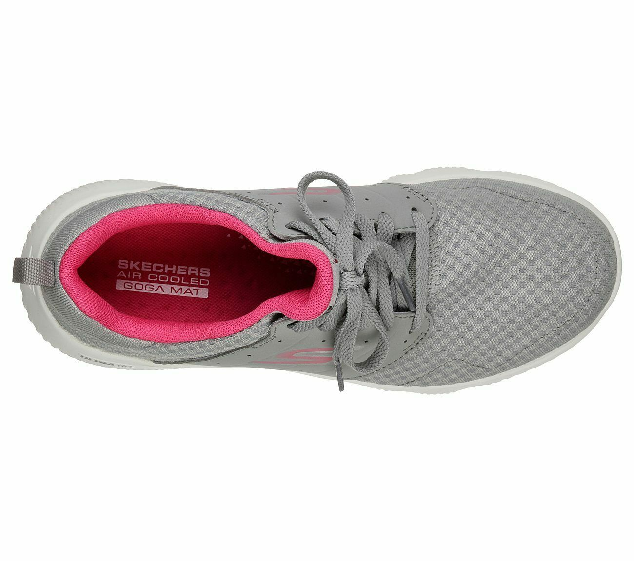 Skechers Gray Pink shoes Women's Sport Go Run Athletic Mesh Comfort Casual 15162 image 5