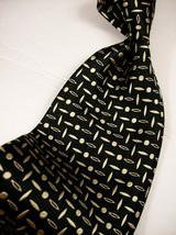 ROBERT TALBOTT  Black & GOLD Gem  SILK Mens 100  Necktie s  8-1114B - $18.99
