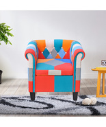 Multi-color Armchair Classic Button Fabric Sofa Modern Living Room Furni... - $149.99