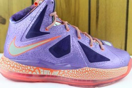 """LEBRON X """"ALL STAR"""" YOUTH SIZE 5.0 SAME AS WOMAN 6.5 NEW RARE LEGIT - $193.24"""