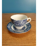 Liberty Blue Tea / Coffee cup & saucer Paul Revere and Old North Church  - $11.88