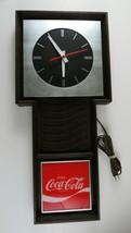 Coca Cola Wall Clock, Enjoy Coke, Wood Look, Brushed Metal, Vintage Benco - $69.29