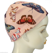 Pink Butterfly Chemo Cancer Hair Loss Hat Sleep Cap Soft 100% Cotton Sca... - ₹497.80 INR