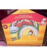 Peanuts Snoopy Beagle Scout Dinnerware Set 3 Pieces - $20.00